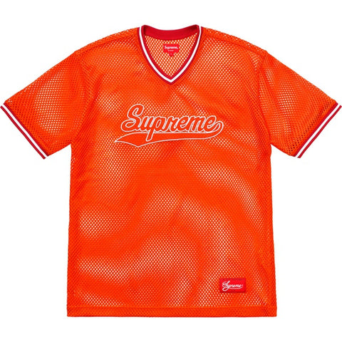Supreme Mesh Baseball Top Orange