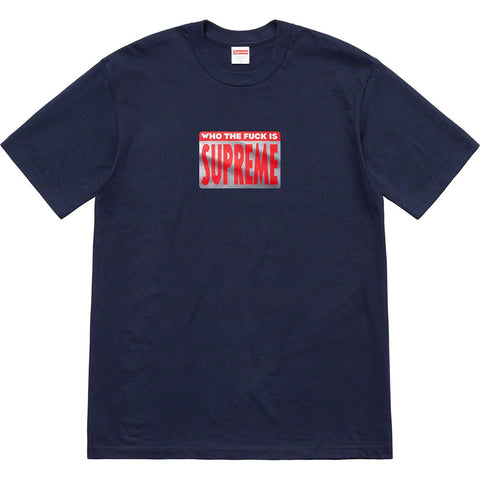 Supreme Who The Fuck Tee Navy
