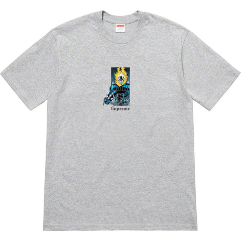 Supreme Ghost Rider Tee Heather Grey