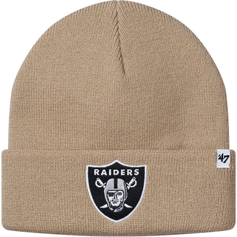 Supreme NFL x Raiders x '47 Beanie Tan