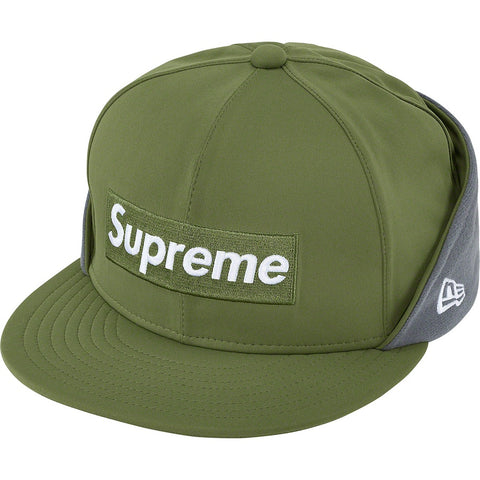Supreme WINDSTOPPER Earflap Box Logo New Era Dark Olive