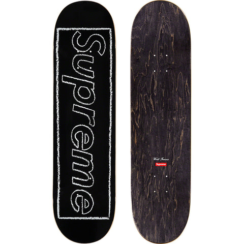 Supreme KAWS Chalk Logo Skateboard Deck Black