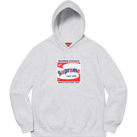 Supreme Shine Hooded Sweatshirt Ash Grey