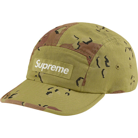 Supreme Overdyed Camo Camp Cap Green