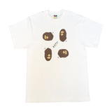 A Bathing Ape 4x Ape Head Tee White