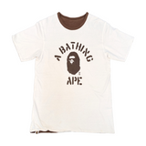 A Bathing Ape Reversible Military Tee White/Brown