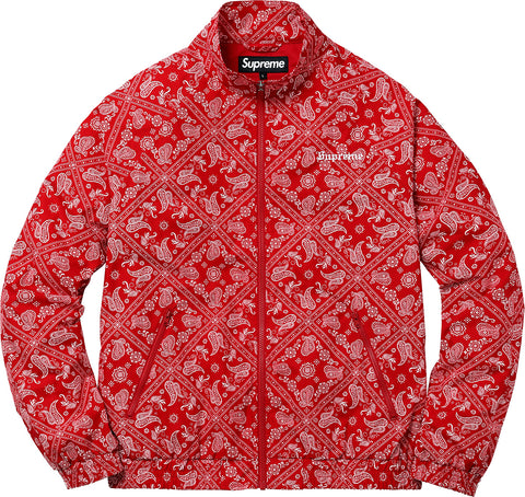 Supreme Bandana Track Jacket Red