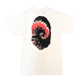 A Bathing Ape Tie Dye Ape Face Tee White