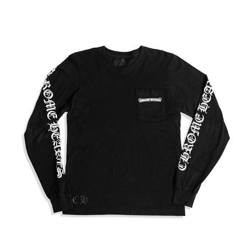 Chrome Hearts Scroll Logo LS Tee Black