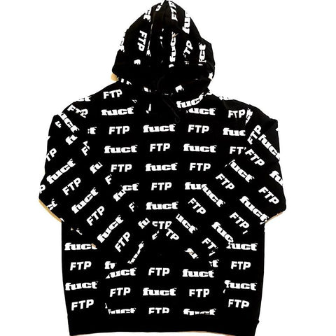 FTP x Fuct All Over Hoodie Black