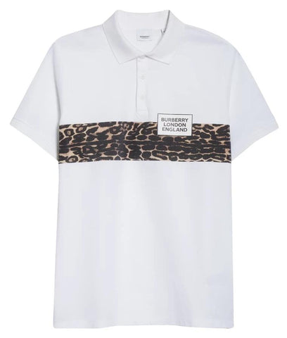 Burberry Leopard Stripe Polo White