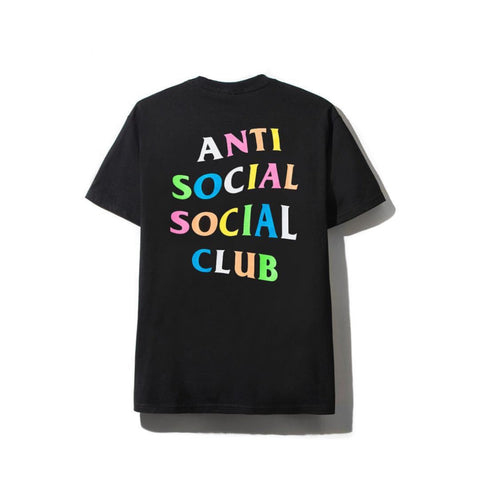 Anti Social Social Club Rainbow Tee Black