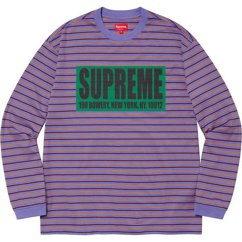 Supreme Thin Stripe L/S Top Light Purple