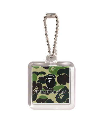 A Bathing Ape ABC Camo Keychain Green