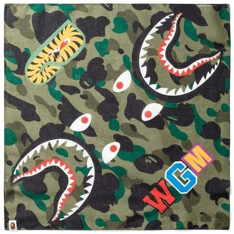 A Bathing Ape 1st Camo Shark Bandana Green