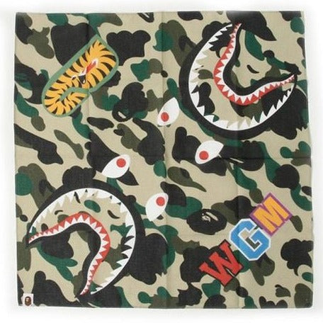 A Bathing Ape 1st Camo Shark Bandana Yellow