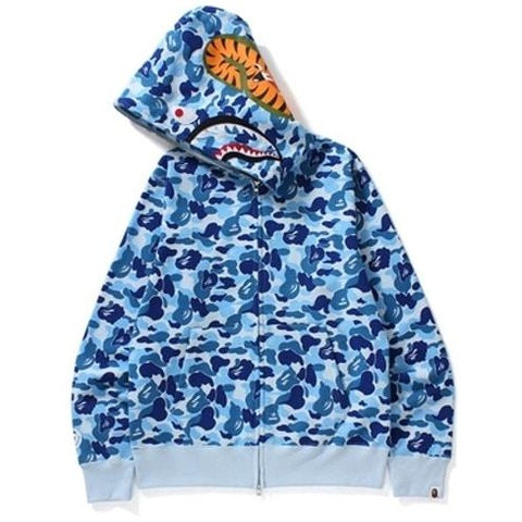 A Bathing Ape ABC Camo Shark Full Zip Blue