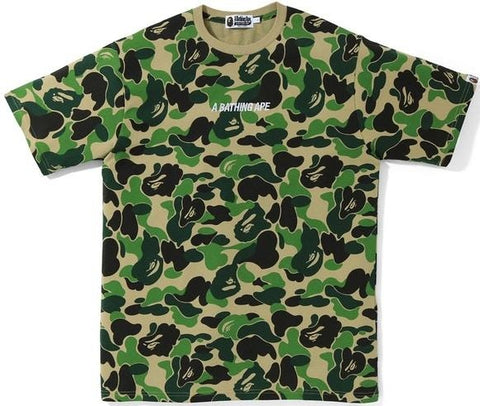 A Bathing Ape ABC Wide Camo Tee Green