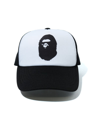 A Bathing Ape Ape Head Mesh Hat Black/White