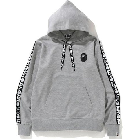 A Bathing Ape Bape Double Knit Wide Pullover Hoodie Grey