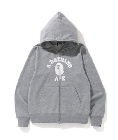 A Bathing Ape College Full Zip Grey