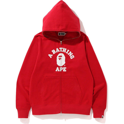 A Bathing Ape College Full Zip Red