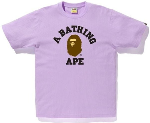 A Bathing Ape College Tee Purple