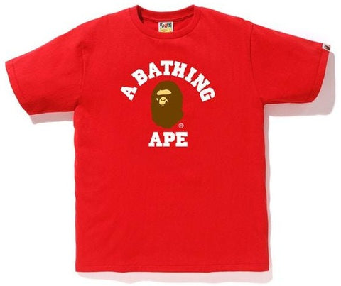 A Bathing Ape College Tee Red