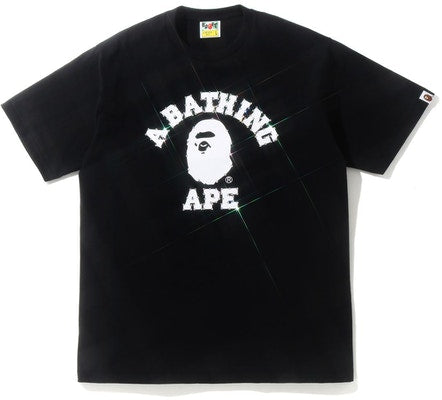 A Bathing Ape Crystal Stone College Tee Black