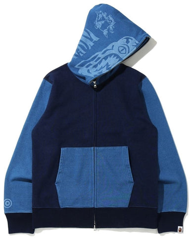 A Bathing Ape Indigo Tiger Shark Full Zip