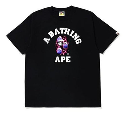 A Bathing Ape Lightning College Tee Black