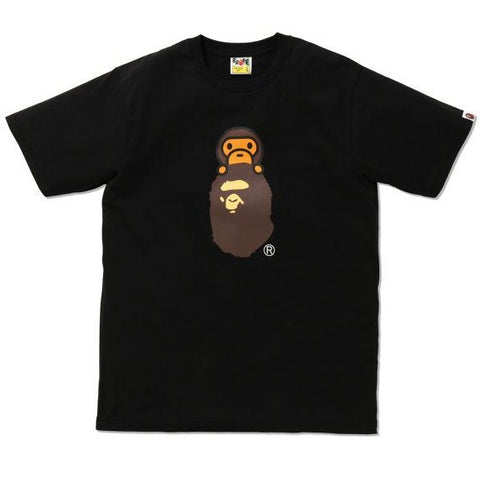 A Bathing Ape Milo on Ape Head Tee Black