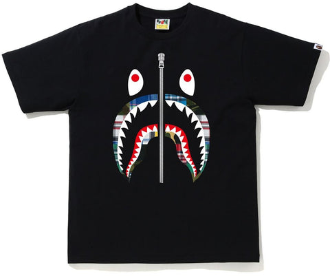A Bathing Ape Patchwork Shark Tee Black