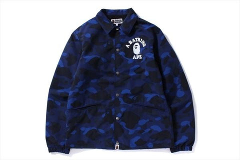 A Bathing Ape Color Camo Coach Jacket Blue