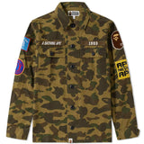 A Bathing Ape Green 1st Camo Military Shirt