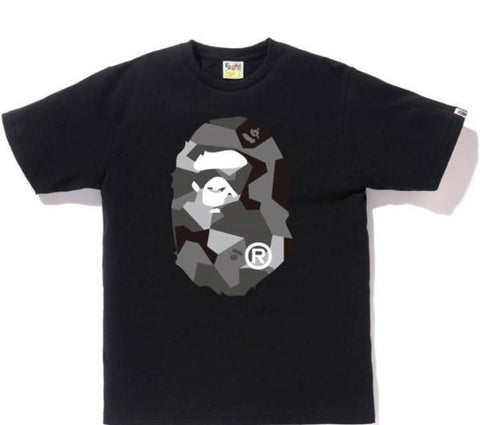 A Bathing Ape Splinter Camo Big Ape Head Tee Black