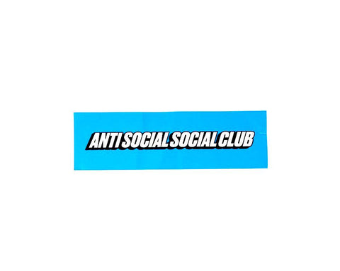 Anti Social Social Club Sticker Blue