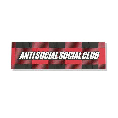 Anti Social Social Club Sticker Plaid