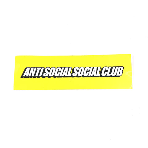 Anti Social Social Club Sticker Yellow