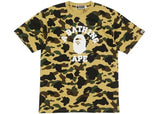 A Bathing Ape Ultimate 1st Camo College Tee Yellow