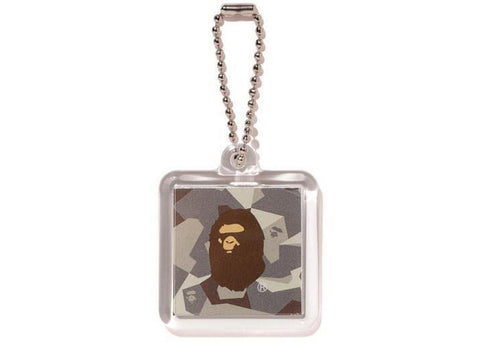 A Bathing Ape Splinter Camo Keychain Beige