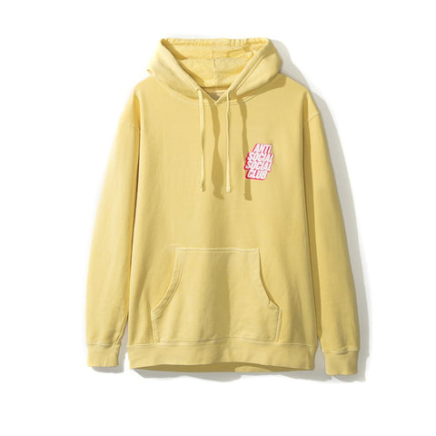 Anti Social Social Club Blocked Hoodie Yellow