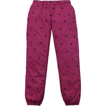 Supreme Purple Embroidered Spider Pants