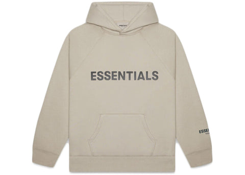 FEAR OF GOD ESSENTIALS Pullover Hoodie Applique Logo Olive/Khaki