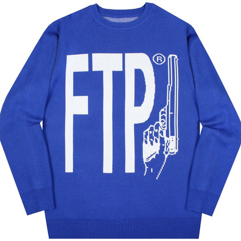 FTP WYB Knit Sweater Blue