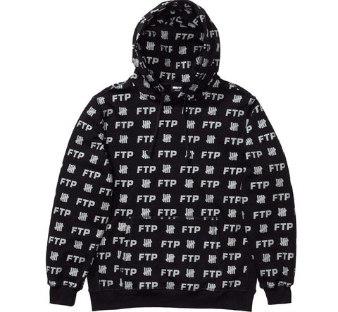 FTP X Undefeated Hooded Sweatshirt Black