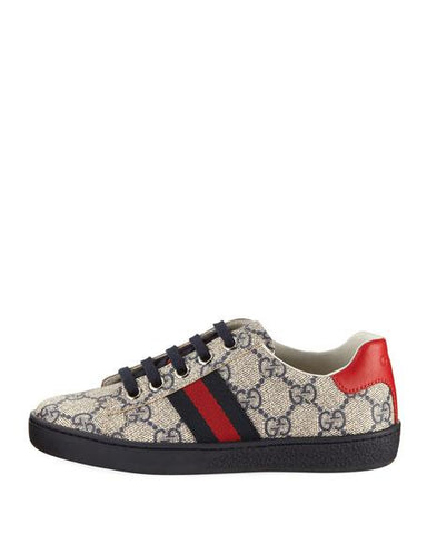 Gucci Ace GG Low Kids Tennis Shoes