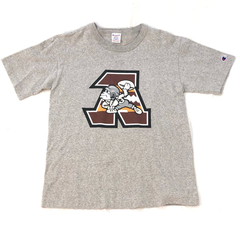 A Bathing Ape Grey Champion Reverse Weave Football Tee