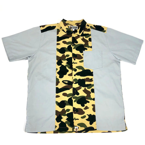 A Bathing Ape SS Button Up 1st Camo/Grey