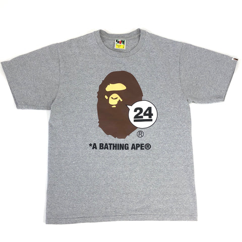 A Bathing Ape 24th Anniversary Tee Grey